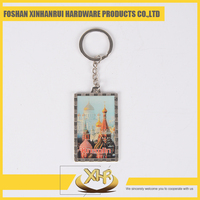 Custom promotional blank keychain metal key ring