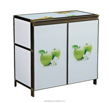 modern colorful flower design cheap storage cabinet