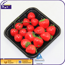 Wholesale Food Grade Dry fruit Decoration Tray / Plastic Vegetable Tray Size 140*140*25mm