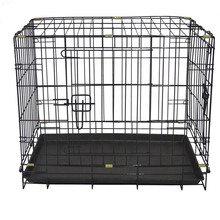 2 doors expanded metal dog cage wire custom dog cage