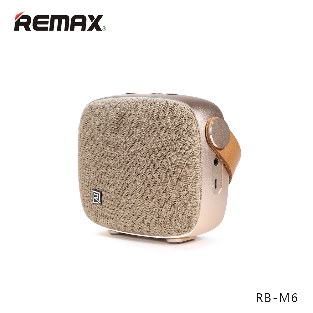 Remax RB-M6 HiFi Leather NFC 2000mah Portable Bluetooth Speaker