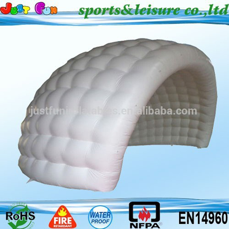 EN14960 hot sale half inflatable big dome tent for sale