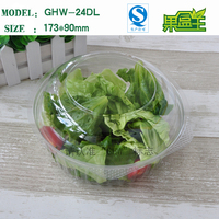 China Suppliers High Quality Transparent Packaging Blister Plastic Packing Salad Fruit Box