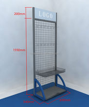 single side metal wire potato chip and snacks display rack stands