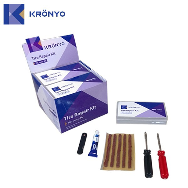 KRONYO tire repair rubber solution hand tool set tyre sealant kit