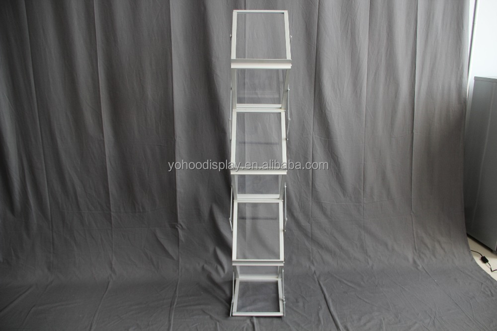 2017 folding acrylic new modern style display rack for magazines