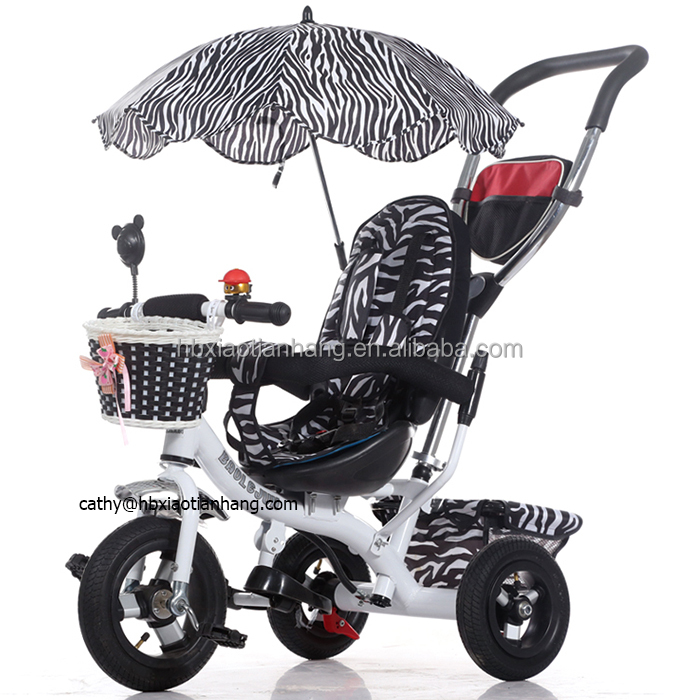 3 Wheels Car for Children with Aluminum Alloy Hub / Steel Tricycle with UV Umbrella