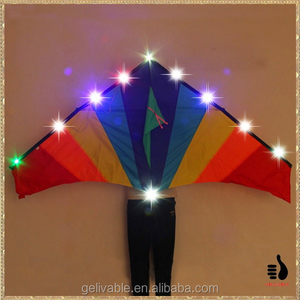 Chinese cheap simple new led light kite from the kite factory
