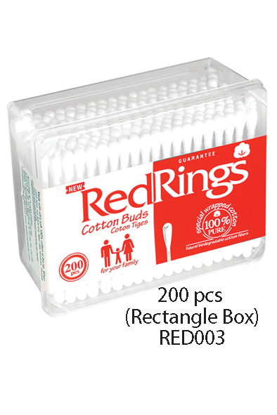 Redrings Cotton Buds 200 pcs Rectangle Box