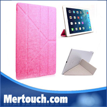 "smart cover for ipad 2 3 4 PU leather 4 fold stand hard clear transparent PC back cover for Apple ipad 2 3 4 9.7"" smart cover"