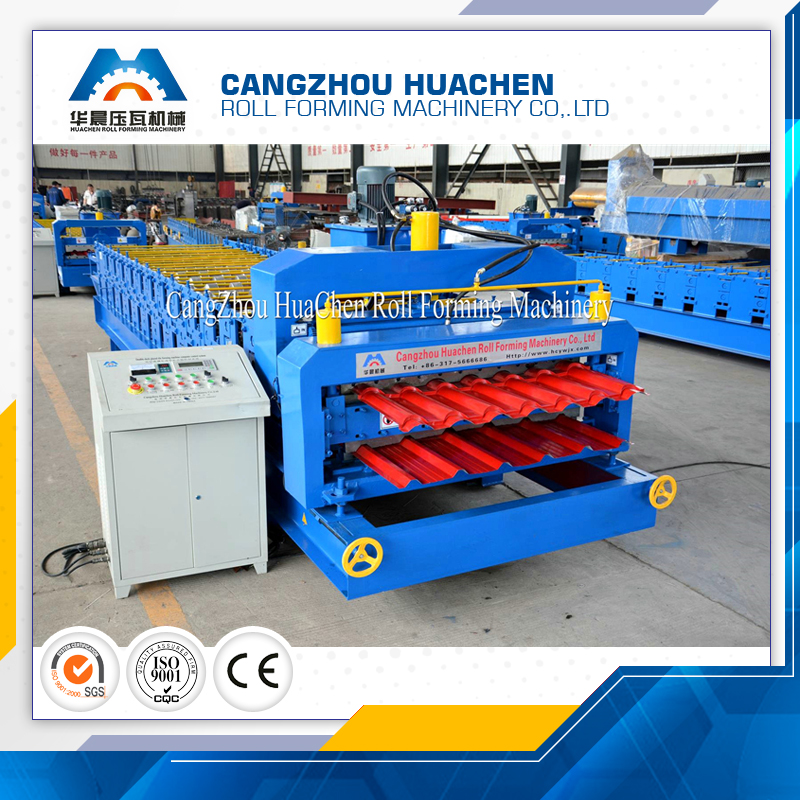 HC26/37 Color Steel Roofing Profile Double Layer Roll Forming Machine