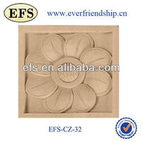 high quality cheap hand carved unique wood appliques sunflower