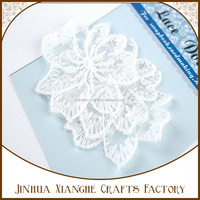 Custom Design Embroidered Cotton Lace Doily