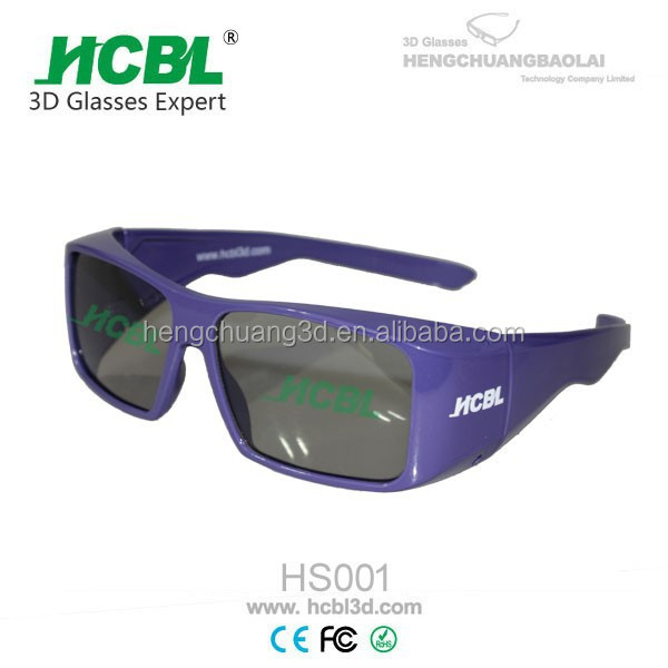 Purple PC Frame TAC Lens IMAX 3D Glasses Circular Polarized For Ultimate Movie