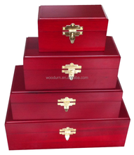 High Quality Cherry wooden latched pet casket