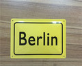 Belin Germany wholesale embossed metal letter city name tin sign