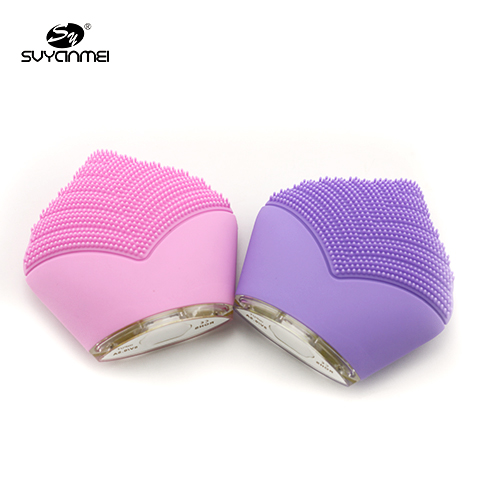 USB Rechargeable personal skin care tool electric sonic silicone facial brush for skin cleansing