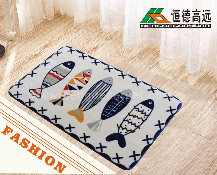 Trade assurance waterproof 3d printed cartoon plain door mat