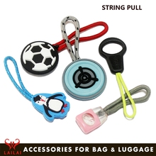 Fashion accessories rope zip puller wholesale custom made zipper pull plastic pull tab