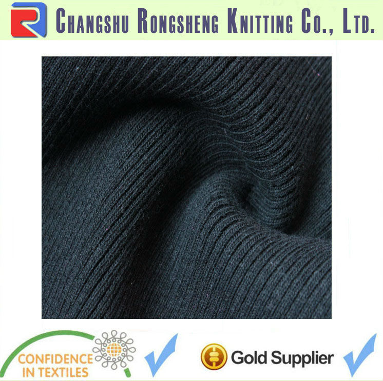 Flat knitting machine cotton spandex rib