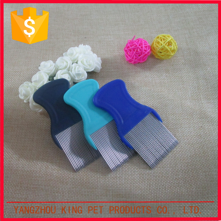 OEM clean products personalized small pet comb with stainless steel