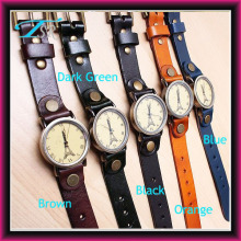 korean fashion leather watch, wrist brand watch, vintage style watch