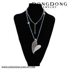Dongdong 2017 crystal pearl Long Chain of love Pendant Long Necklace