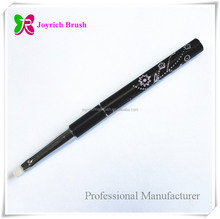 Black diamond design detachable synthetic hair gel private label nail art brush