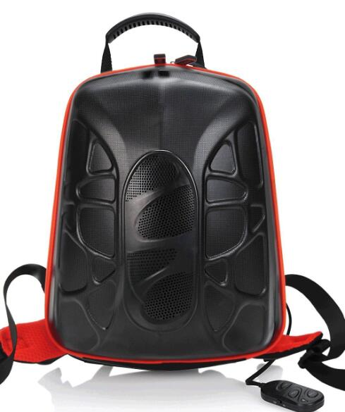 Outdoor Cycling Bluetooth Backpack Speaker Bag Stereo Music Amplifier Built in 5200mAh Power Bank Support TF Card