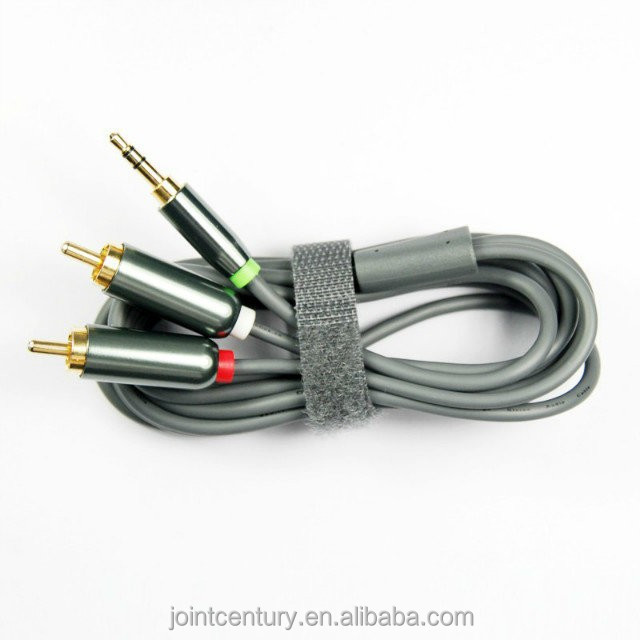 2015 on sale alibaba cheap price 30AWG braid or spiral shielding High end 3 rca to 3rca cable
