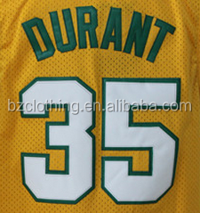 Seattle Kevin Durant #35 Yellow Stitched National Basketball Jerseys
