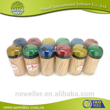 2014Hot sell natural birch wood ice cream toothpicks single paper wraped toothpick