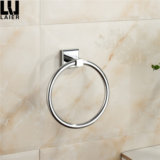 Home Decorative Zinc Alloy Chrome Plated Tissue Ring Towel Holder For Bath Fittings