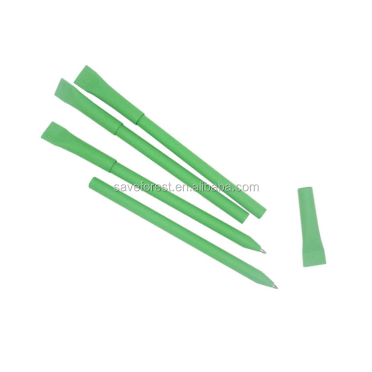 Eco Friendly green paper ball pen