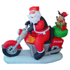 160cm polyeater santa riding motorbike Christmas inflatable with reinder air blown decoration