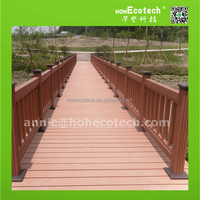 Wood plastic composite wpc outdoor railing guard rails/river bank railing