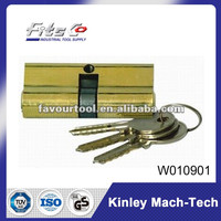 cylinder lock of high quality & iron keys with nickel plated