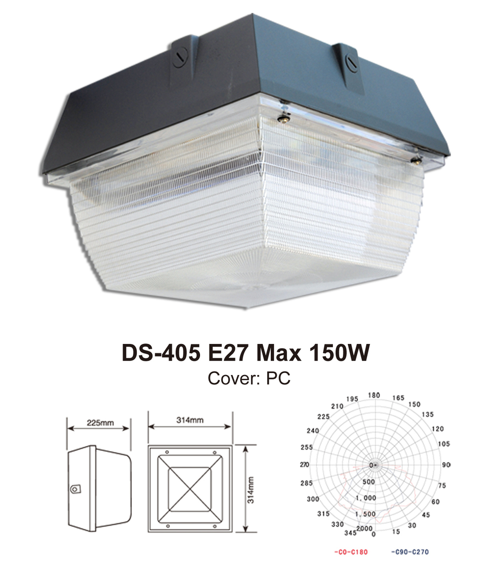 LED surface mounted ceiling fixture canopy light