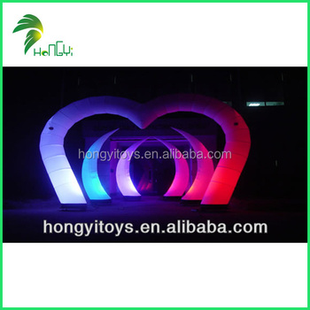 Hognyi New Design Inflatable Led Light / Inflatable Pillar With Lighting For Party Decoration