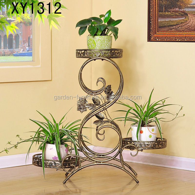 Xy1312 Modern Style 3 Tier Metal Plant Stand Home Decor