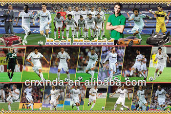 Football Paper Poster for Real Madrid