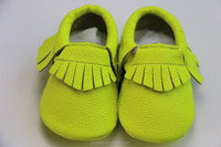 low nice price New Geuine leather Princess neon green Girl Prewalker Wholesale kids Shoes Baby Moccasins