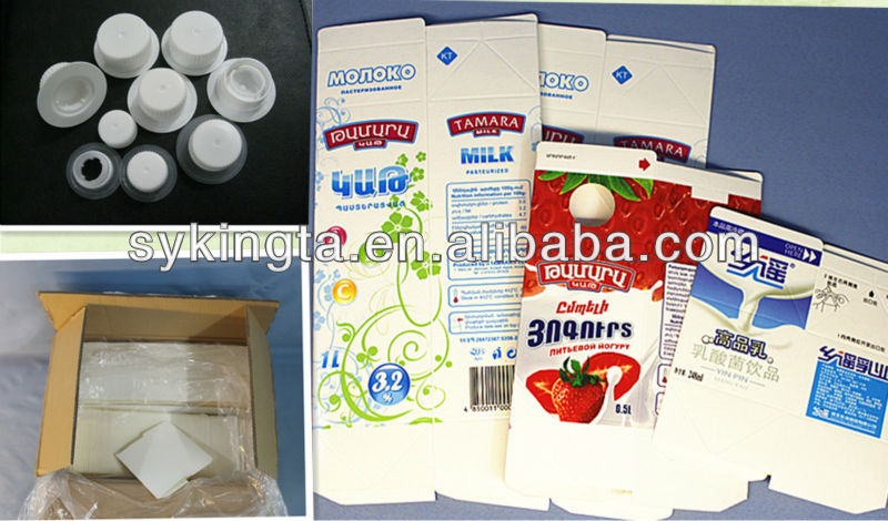 500ml,1000ml Milk Gable top cartons