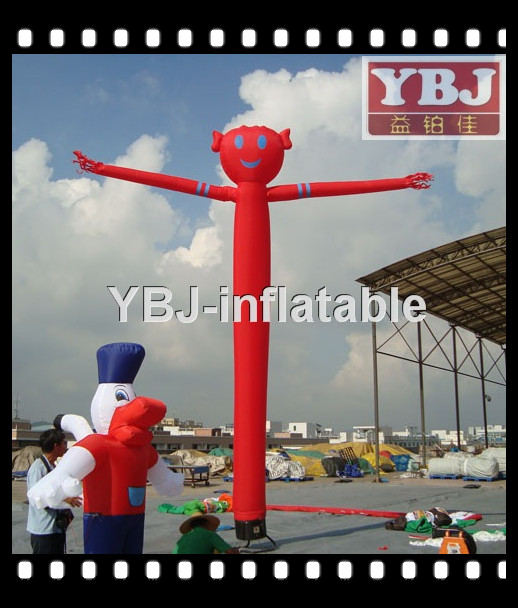 Red colour inflatable sky air dancer dancing man