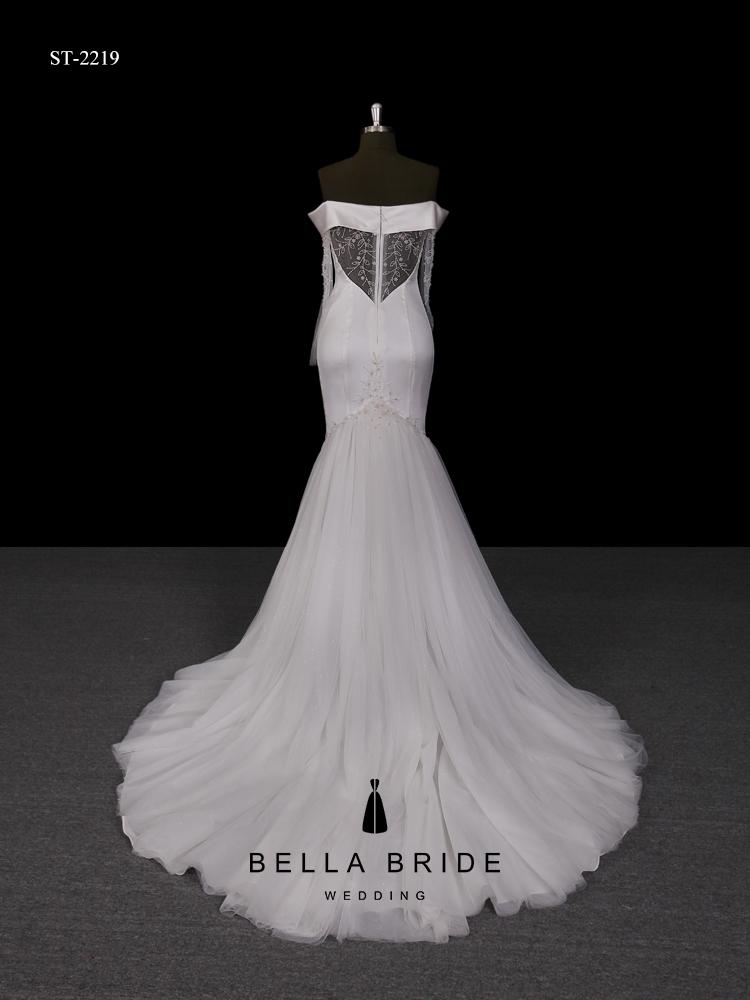 Mangas compridas de cetim vestido de casamento branco da noiva do vestido de casamento vestido de noiva guangzhou fábrica