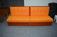 Restaurant furniture/simple design leather cover restaurant booth sofa XYN1239