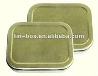 Plain tin case customer use metal box for gift packing