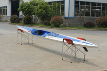 colorful new design carbon fiber surf ski With Rudder And Foot-pedal System