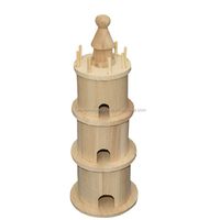 china import best made toys / natural paulownia wooden toys/castle shape wooden toys from china