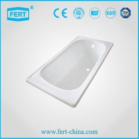 low price indoor enameled steel small bathtubs with CE certificated